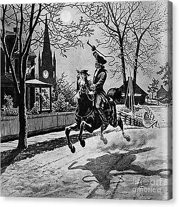 Paul Revere, Midnight Ride, April 18th Canvas Print by Photo Researchers