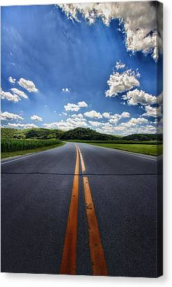 Pavement Approach Canvas Print by Bill Tiepelman