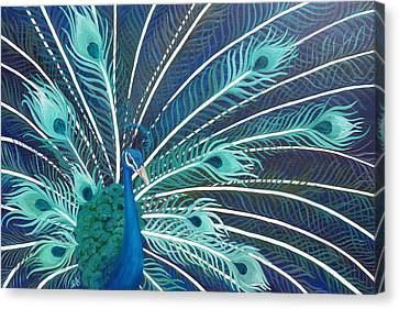 Peacock Canvas Print by Estephy Sabin Figueroa