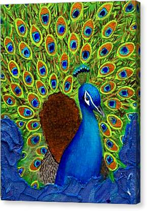 Peacock's Delight Canvas Print by The Art With A Heart By Charlotte Phillips