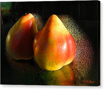 Pear Aura Canvas Print by Michael Durst