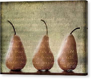 Pears To Be Canvas Print by Linde Townsend