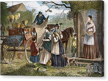 Peddlers Wagon, 1868 Canvas Print by Granger