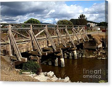Pedestrian Bridge At Point Isabel In Richmond California . 7d15083 Canvas Print by Wingsdomain Art and Photography