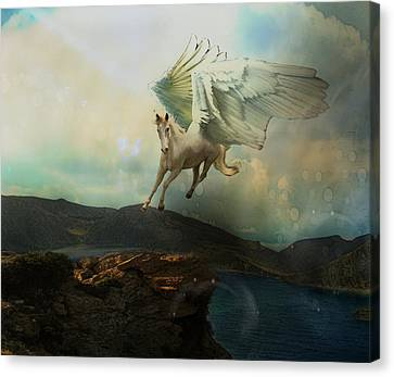 Pegasus Flying Horse Canvas Print by Patricia Ridlon