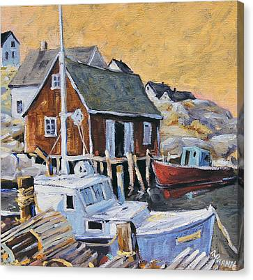 Peggy S Cove 01 By Prankearts Canvas Print by Richard T Pranke
