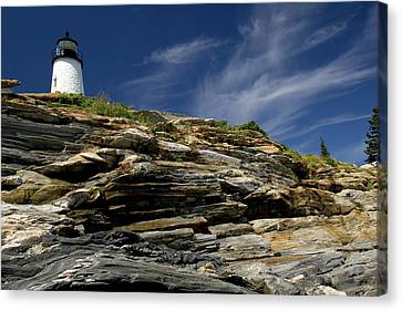 Pemaquid Point Lighthouse Canvas Print by Rick Berk