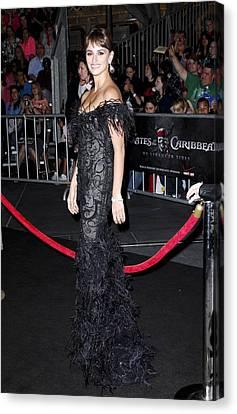 Penelope Cruz Wearing A Marchesa Dress Canvas Print by Everett