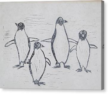 Penguins Canvas Print by Tina M Wenger