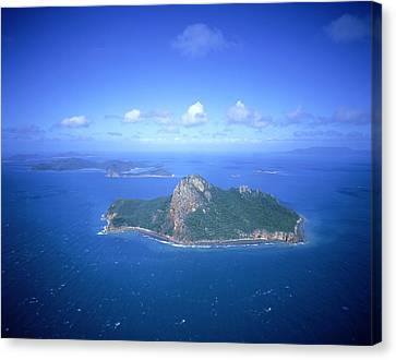 Pentecost Island (aerial) Canvas Print by Photograph By David Messent