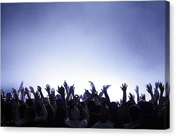 People At Concert Canvas Print by Photo by Erica Treais, eTree Photography