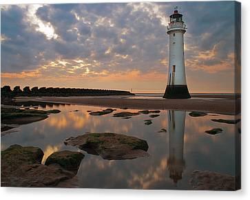 Perch Rock Lighthouse Canvas Print by Wayne Molyneux