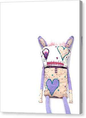 Percry Of The Cutie Patootie Zombie Bunny Twins Canvas Print by Oddball Art Co by Lizzy Love
