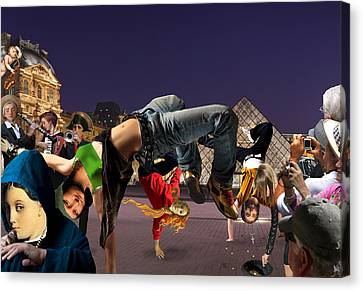 Performance Art Canvas Print by Barry Kite