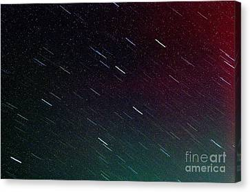 Perseid Meteor Shower Canvas Print by Thomas R Fletcher