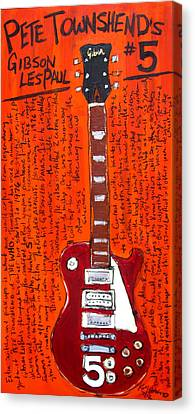Pete Townshend's Les Paul 5 Canvas Print by Karl Haglund
