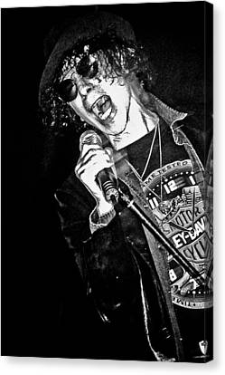 Peter Wolf Canvas Print by Mike Martin