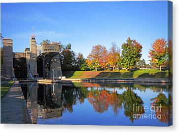 Peterborough Lift Lock National Historic Site Canvas Print by Charline Xia