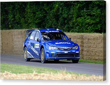 Petter Solberg 2008 Subaru Impreza Canvas Print by Christopher Mercer