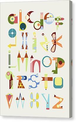 Phantasy Alphabet Canvas Print by Elke Vogelsang