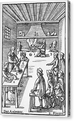 Pharmacy Preparations, 16th Century Canvas Print by