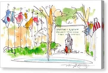 Philadelphia Park Canvas Print by Marilyn MacGregor