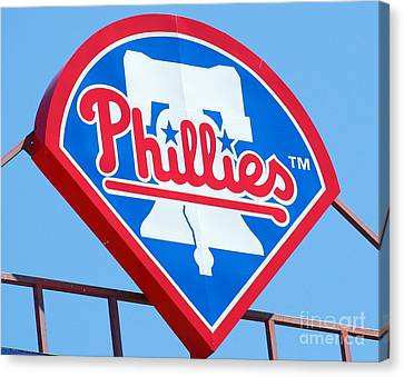 Phillies Logo Canvas Print by Carol Christopher