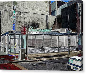 Philly Diner Canvas Print by John J Murphy III
