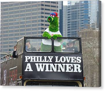 Philly Loves A Winner Canvas Print by Alice Gipson
