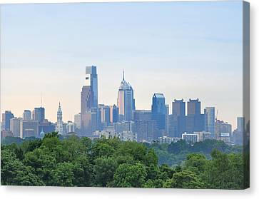 Philly Skyline Canvas Print by Bill Cannon