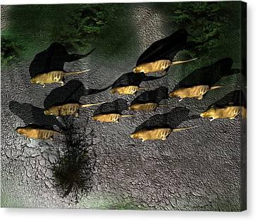 Phoberomys Pattersoni, Prehistoric Rodent Canvas Print by Christian Darkin