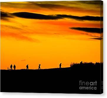 Photo Club Sunrise Canvas Print by Harry Strharsky