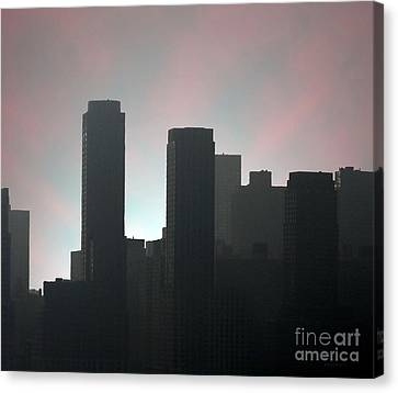 Photograph Of Manhattan In The Morning  Canvas Print by Mario Perez