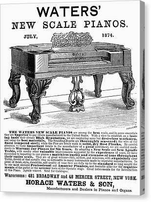 Piano Advertisement, 1874 Canvas Print by Granger