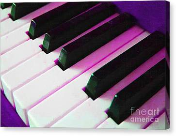 Piano Keys . V2 . Purple Canvas Print by Wingsdomain Art and Photography