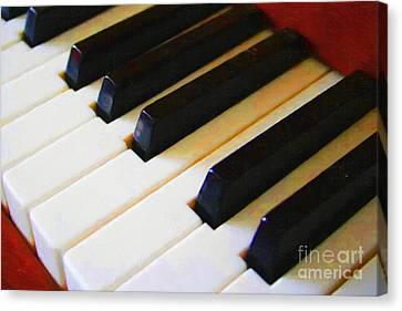 Piano Keys . V2 Canvas Print by Wingsdomain Art and Photography