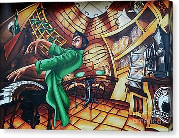 Piano Man Canvas Print by Bob Christopher