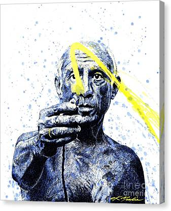 Picasso Canvas Print by Chris Mackie