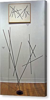 Pick Up Sticks And Thunderbird Canvas Print by John Neumann