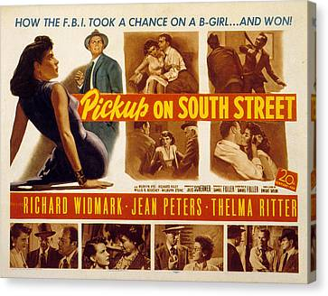 Pickup On South Street, Jean Peters Canvas Print by Everett