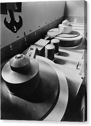 Pickwick Dams First Turbine Generators Canvas Print by Everett