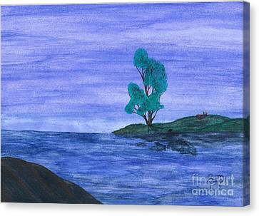 Picnic On The Point Canvas Print by Robert Meszaros