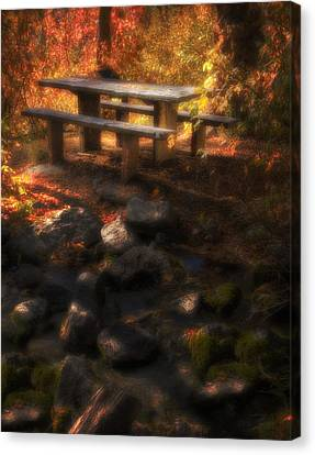 Picnic Table Canvas Print by Utah Images