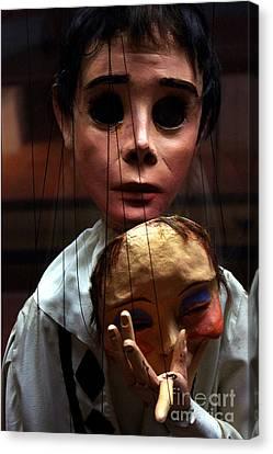 Pierrot Puppet Canvas Print by Mona Edulesco