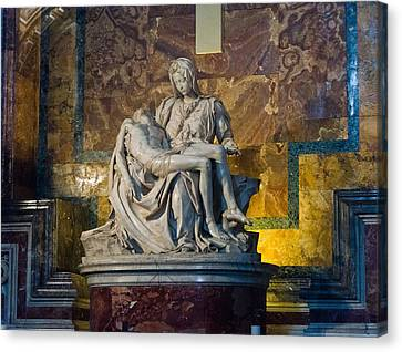 Pieta By Michelangelo Circa 1499 Ad Canvas Print by Jon Berghoff