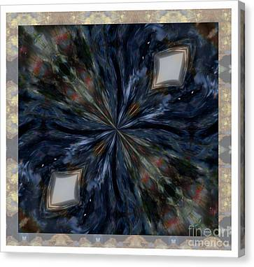 Pietersite Gemstone Mandala - 1 Canvas Print by Renata Ratajczyk