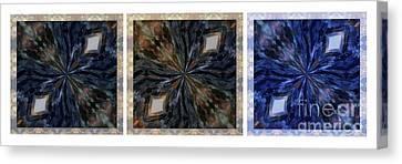 Pietersite Gemstone Mandala - 2 -triptych Canvas Print by Renata Ratajczyk