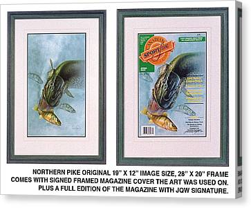 Pike Fishing Original And Magazine Canvas Print by JQ Licensing