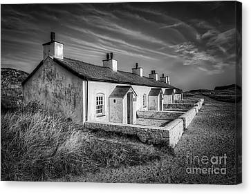 Pilot Cottages Canvas Print by Adrian Evans