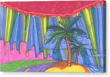 Pink City Canvas Print by James Davidson